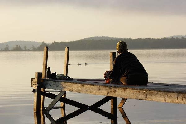 Fall Squam 2012 Morning Meditation www.redheadedscrapbooks.com